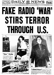 fake radio war stirs terror