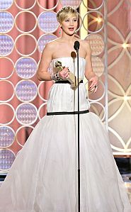 """Jennifer Lawrence, cea mai bună actriţă în rol secundar într-un lungmetraj (""""American Hustle"""")"""