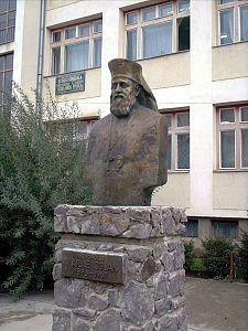 Bustul Nicolae Colan din Sf Gheorghe (Scoala Gen N Colan)