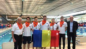 Stanga Dl. Radu Dordea ex.  presedintele clubului Natacion Sport Geneve, echipa CSG , dreapta Dl.Dr.  Gianasso Guido