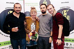 Paula Rotar cu o parte din noii colegi