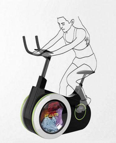 bicicleta si masina de spalat rufe