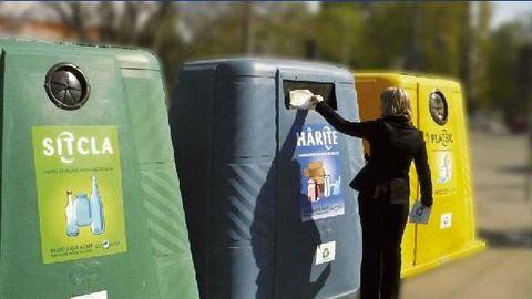 Cantităţile de deşeuri reciclabile colectate selectiv au crescut cu peste 30%