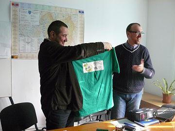 Directorul Tega, Tóth-Birtan Csaba, şi preşedintele Alutus, Cătălin Lazăr