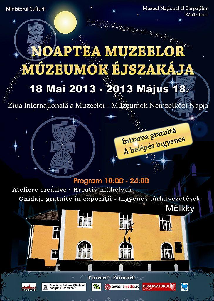 afis noaptea muzeelor 2013