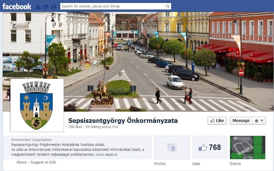 Pagina oficială de Facebook în limba maghiară
