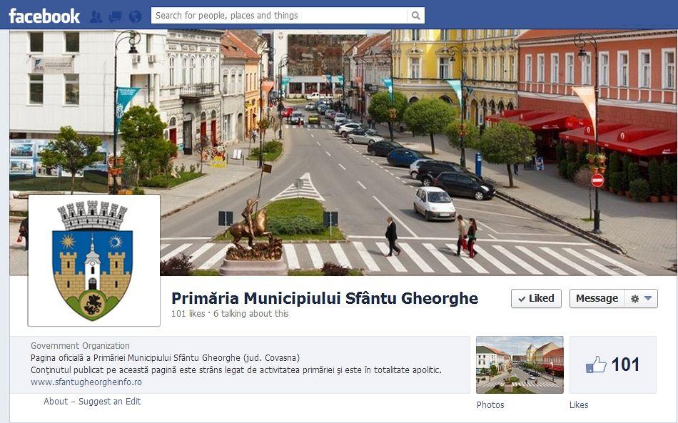 Pagina oficială de Facebook a Primăriei